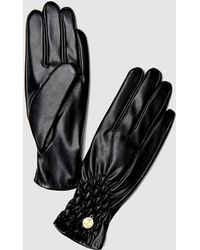 Guess - Black Gloves With Gathered Detail - Lyst