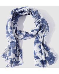 Caminatta - White And Blue Printed Foulard - Lyst