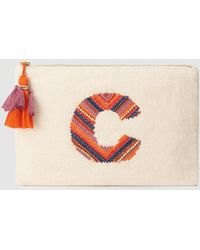 El Corte Inglés - Beige Pouch With Embroidered C - Lyst