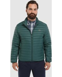 a92ac4330 Lacoste - Big And Tall Green Lightweight Quilted Coat - Lyst