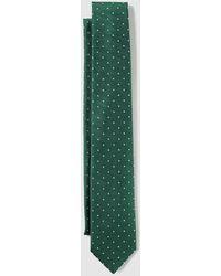 Mirto - Green Silk Tie With Tiny Polka Dot Print - Lyst