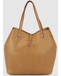 Gloria Ortiz - Sofia Brown Leather Shopper Bag With Metallic Appliqués - Lyst