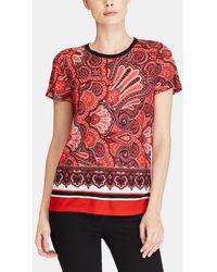 Lauren by Ralph Lauren - Red Paisley Print T-shirt - Lyst