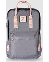 Green Coast - Grey Backpack With Contrasting Strap - Lyst