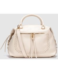 El Corte Inglés - Beige Bowling Bag With Plaited Detail - Lyst