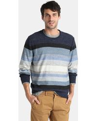 Gap - Blue Jumper With A Round Collar - Lyst