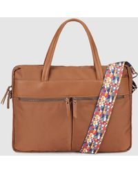 El Corte Inglés - Wo Brown Document Holder With A Multicoloured Strap - Lyst