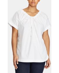 Denim & Supply Ralph Lauren - Plus Size Blouse With Tie At The Neckline - Lyst