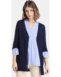 Zendra El Corte Inglés - El Corte Inglés Zendra Long Cardigan With Pockets - Lyst