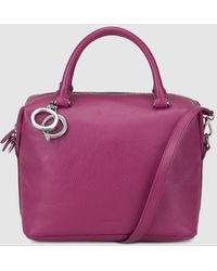 Gloria Ortiz - Christmas Charm Purple Leather Bowling Bag With A Detachable Strap - Lyst