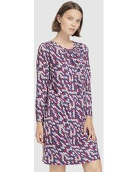 Escolá - Purple Printed Dress - Lyst