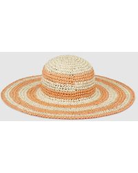 El Corte Inglés - Tan And Orange Striped Sun Hat - Lyst