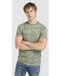 4d37538f Nudie Jeans Khaki Raw Hem Slub T-Shirt in Natural for Men - Lyst