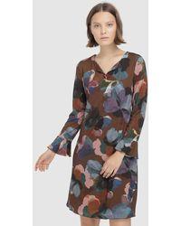 Escolá - Long Sleeve Printed Dress - Lyst