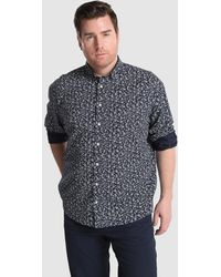 Tommy Hilfiger - Big And Tall Classic-fit Blue Printed Shirt - Lyst