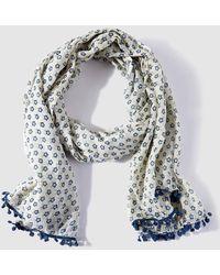 Caminatta - Blue Floral Print Foulard - Lyst