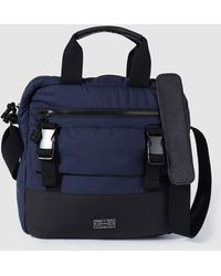 Jo & Mr. Joe | Mens Navy Blue Messenger Bag With A Short Double Strap | Lyst
