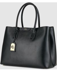 Lauren by Ralph Lauren - Black Handbag With A Pendant - Lyst