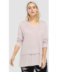 Couchel - Plus Size Sweater With Lurex And Matching Shirt-tails - Lyst