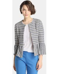 Yera - Long Sleeve Striped Jacket - Lyst