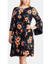 Denim & Supply Ralph Lauren - Plus Size Floral Dress With Frilled Sleeves - Lyst