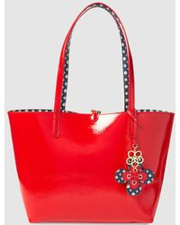 973f657f207 Lauren by Ralph Lauren - Reversible Tote Bag In Red And Blue Geometric  Print - Lyst