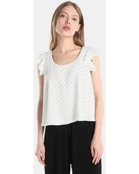 Green Coast - Polka Dot Top With Frill - Lyst