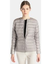 Lauren by Ralph Lauren - Short Natural-coloured Quilted Coat - Lyst