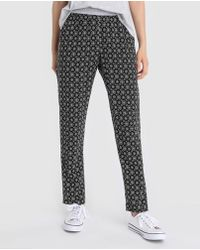 Green Coast - Printed Loose-fitting Trousers - Lyst