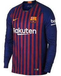 6d3f115bb6ef5 Lyst - Nike 2017/18 Fc Barcelona Stadium Home Men's Soccer Jersey in ...