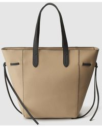 El Corte Inglés - Large Beige Shopper Bag With Knots On The Side - Lyst