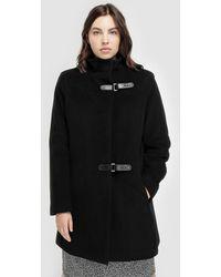Denim & Supply Ralph Lauren - Plus Size Long Black Coat - Lyst