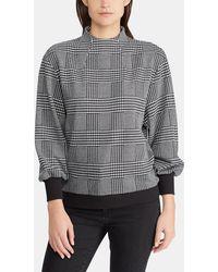 Lauren by Ralph Lauren - Checked Long Sleeve Sweatshirt - Lyst