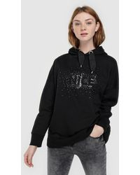Green Coast - Hooded Sweatshirt With Sequins - Lyst