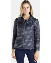 Yera - Reversible Polka Dot Quilted Coat - Lyst