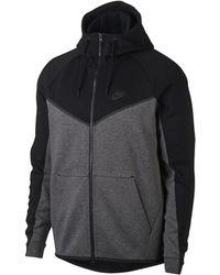 81d885cab33d Lyst - Nike Sportswear Tech Fleece Windrunner Hoodie in Black for Men