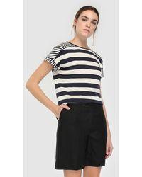 Zendra El Corte Inglés - El Corte Inglés Zendra Black Linen Bermuda Shorts - Lyst