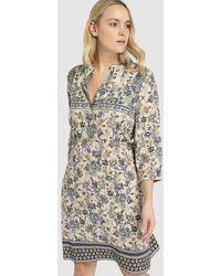57475612996 Lyst - Ashley Stewart Plus Size Striped Chain Neck Hanky Hem Dress