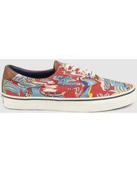 Lyst - Vans Authentic Hello Kitty Hawaiian Ocean Hot Pink in Blue ... 979bcc659