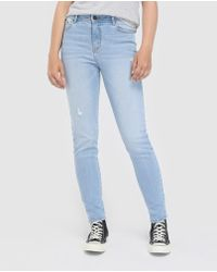 Green Coast - Slim-fit Jeans With Rips - Lyst