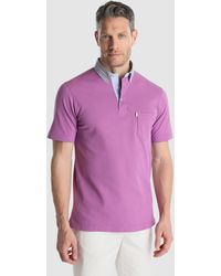 Mirto - Lilac Short Sleeved Piqué Polo Shirt - Lyst