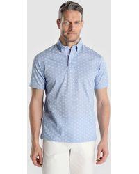 Mirto - Blue Short Sleeved Piqué Polo Shirt - Lyst