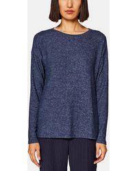 Esprit - Navy Blue Combined Fabric T-shirt - Lyst