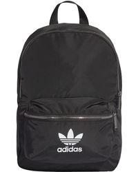 ad724155b adidas Originals Mini Classic Backpack in Black - Lyst