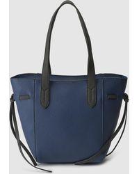 El Corte Inglés - Navy Blue Mini Shopper Bag With Knots On The Side - Lyst