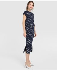 Yera - Short Polka Dot Print Skirt - Lyst
