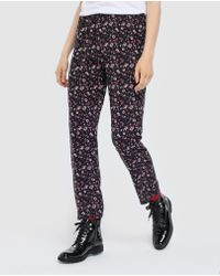Green Coast - Floral Loose-fit Trousers - Lyst