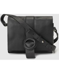 fda898620ed1 Gloria Ortiz - Anita Black Leather Mini Crossbody Bag With Flap - Lyst