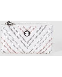 Caminatta - Wo Medium White Wallet With Zip - Lyst