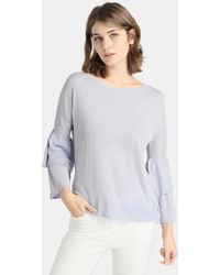 Zendra El Corte Inglés - El Corte Inglés Zendra Jumper With Lurex And Layered Sleeves - Lyst